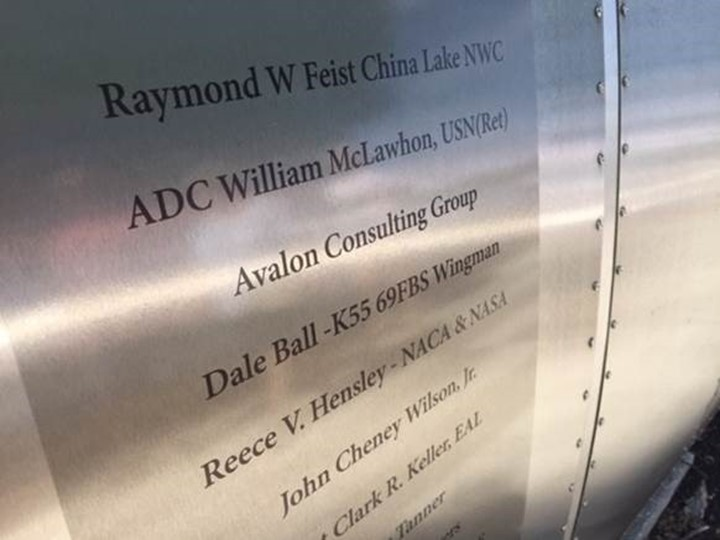 The National Air and Space Museum's Steven F. Udvar-Hazy Center Wall of Honor.