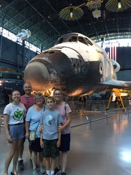 Aly and Family at the Steven F. Udvar-Hazy Center